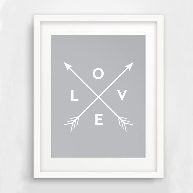 Arrow Wall Art, Printable Arrow Art, Love Wall Art, Print Art Canvas Pertaining To Arrow Wall Art (View 4 of 10)