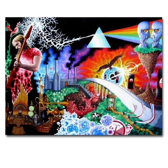 Art Canvas Print Panel Pink Floyd Wall Art Framed Home Decor | Etsy Regarding Pink Floyd The Wall Art (Image 3 of 10)