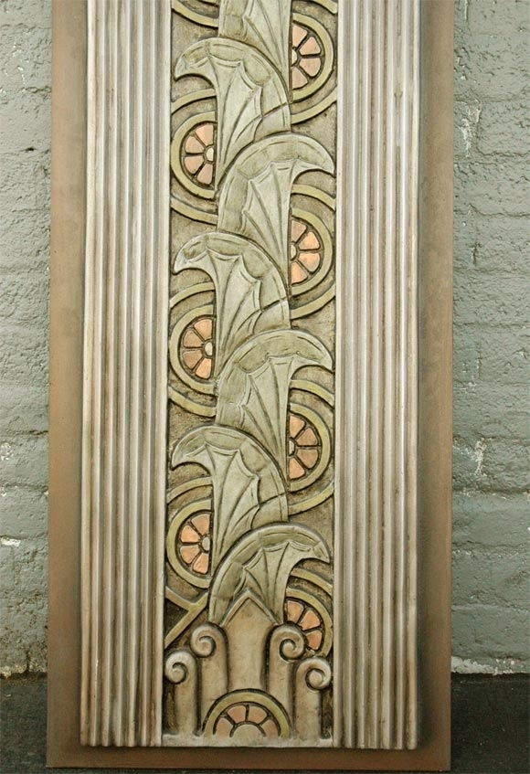 Art Deco Movie Theater Wall Plaques For Sale At 1Stdibs With Art Deco Wall Art (View 4 of 10)