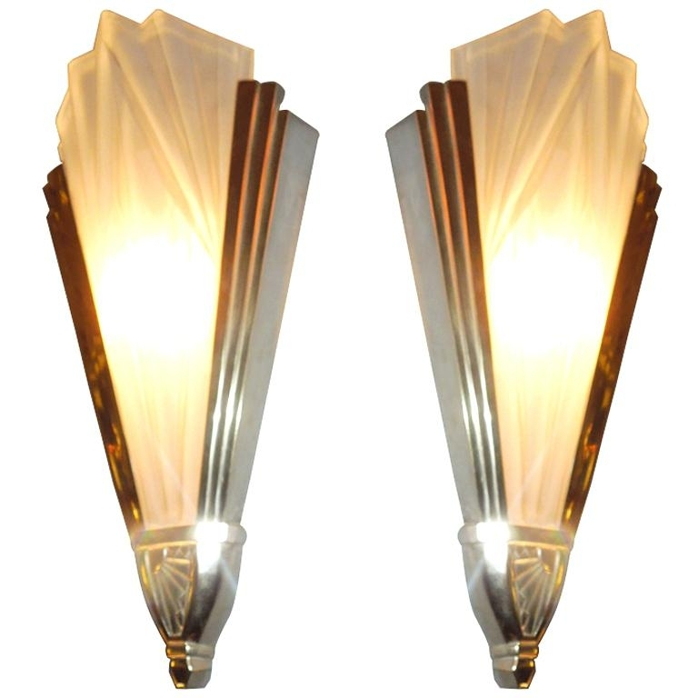 Art Deco Wall Decoration Amazing Ration Art Wall Sconces Images With Regard To Art Deco Wall Sconces (Image 3 of 10)
