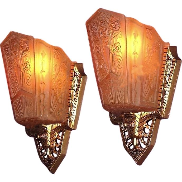 Art Deco Wall Lamp, Pr 1930S Art Deco Wall Sconce Lighting Fixtures In Art Deco Wall Sconces (Image 4 of 10)