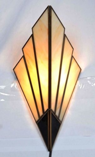 Art Deco Wall Sconces – Wall Lights 1930's Style | Interior With Regard To Art Deco Wall Art (View 3 of 10)