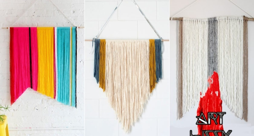 Art Week Diy Yarn Wall Hanging Easy Frisky – Home Art Decor | #89476 Intended For Yarn Wall Art (Image 1 of 10)