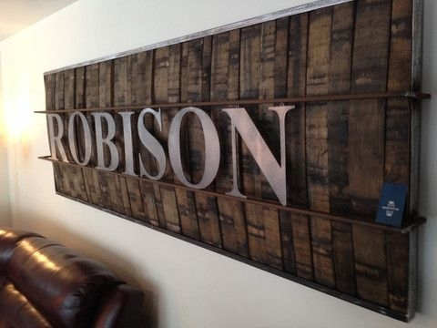 Artwork Using Barrels Wood Oak Whiskey Barrels Used For Rustic Large Inside Large Rustic Wall Art (Image 1 of 10)