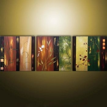 Asian Fantasy Modern Canvas Art Wall Decor Floral Oil Painting Wall Intended For Modern Framed Wall Art Canvas (Image 4 of 10)
