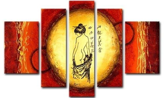 Asian Figure Canvas Wall Art – Cheap Asian Canvas Art In Asian Wall Art (Image 3 of 10)