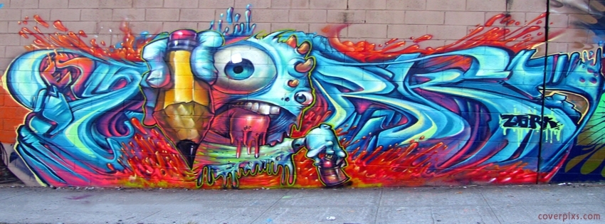 Awesome Creative Graffiti Styles Wall Art Covers For Facebook Tumblr In Graffiti Wall Art (Image 1 of 10)