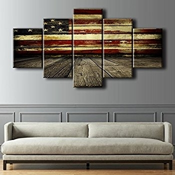 Awesome Ideas American Flag Wall Art Modern House Wayfair Wood Decor Within Vintage American Flag Wall Art (Image 2 of 10)
