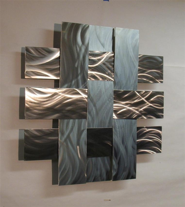 Awesome Wall Art Ideas Design Stainless Large Metal Wall Art Steel Within Large Metal Wall Art (Image 1 of 10)