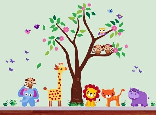 Baby Room Wall – 15 Wall Art Ideas With Animals | Interior Design Throughout Baby Room Wall Art (Image 2 of 10)