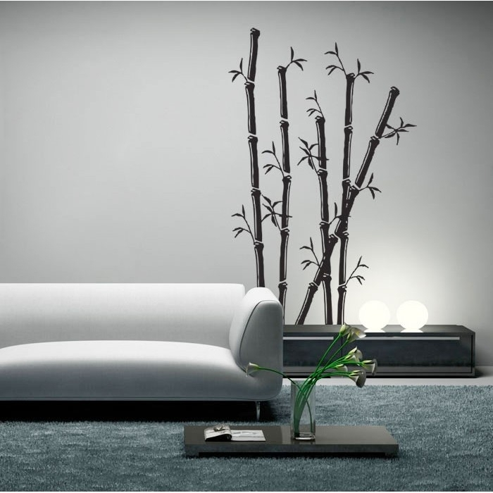 Bamboo Art Vinyl Wall Art Decal Intended For Bamboo Wall Art (Image 2 of 10)