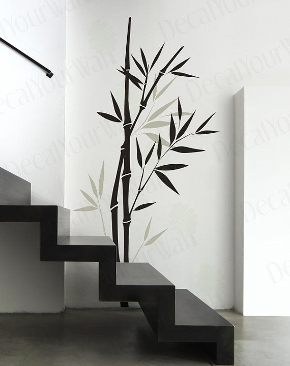Bamboo Wall Decal Bedroom Living Room Nursery Wall Art Vinyl In Bamboo Wall Art (View 3 of 10)