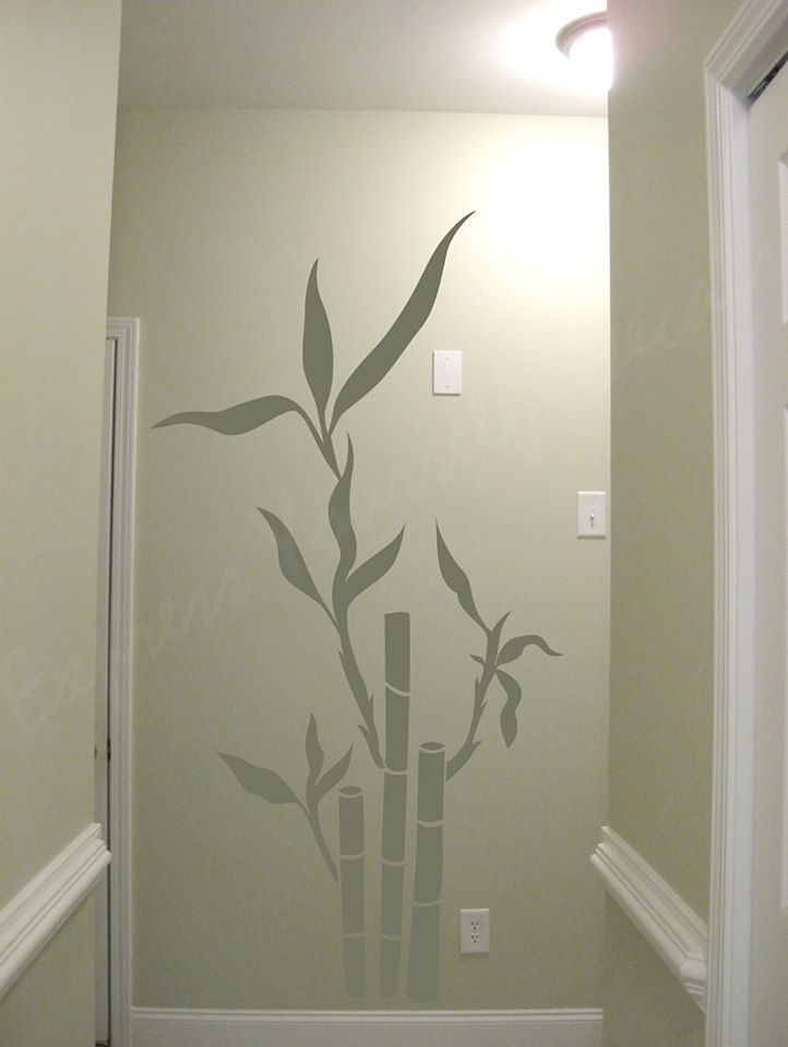 Bamboo Wall Decal | Wall Decal | Wall Art Decal Sticker Pertaining To Bamboo Wall Art (Image 5 of 10)