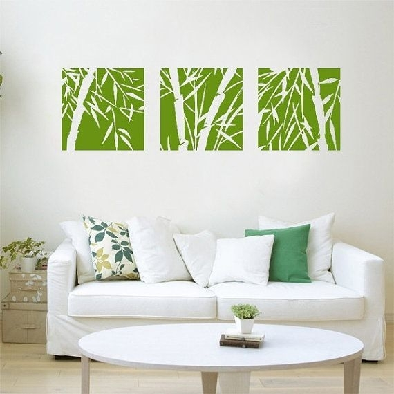 Bamboo Wall Decals,bamboo Wall Decal,bamboo Wall Art,bamboo Wall With Regard To Bamboo Wall Art (Image 7 of 10)