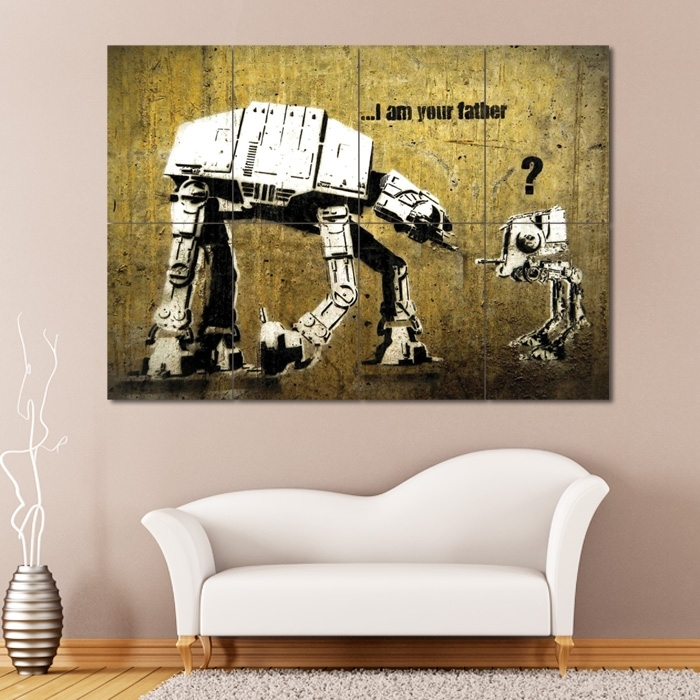 Banksy Star Wars Block Giant Wall Art Poster With Regard To Giant Wall Art (Image 2 of 10)