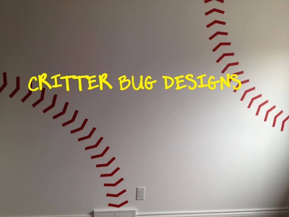 Baseball Stitches Wall Elegant Baseball Wall Art – Wall Decoration Ideas Regarding Baseball Wall Art (Image 1 of 10)