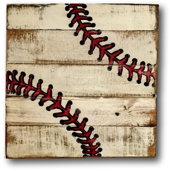Baseball Wall Art Sports Decor Rustic Vintage Baseball Sign ($40 Throughout Baseball Wall Art (Image 4 of 10)