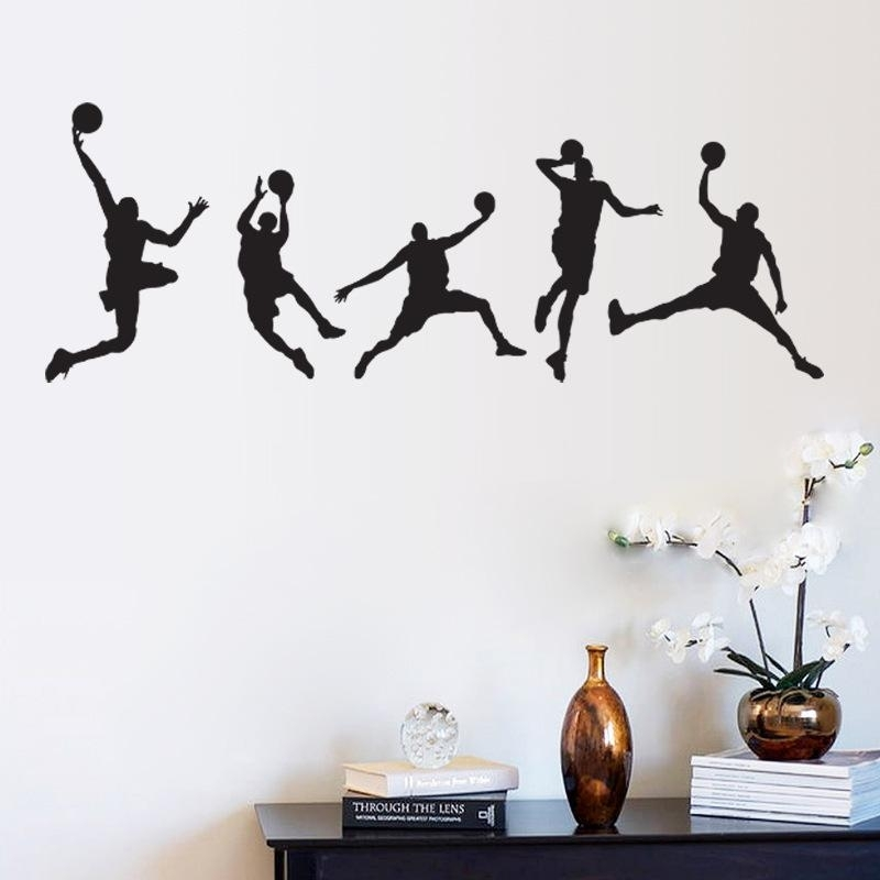 Basketball Match Wall Art Mural Decor Home Decoration Wallpaper Inside Sports Wall Art (Image 1 of 10)