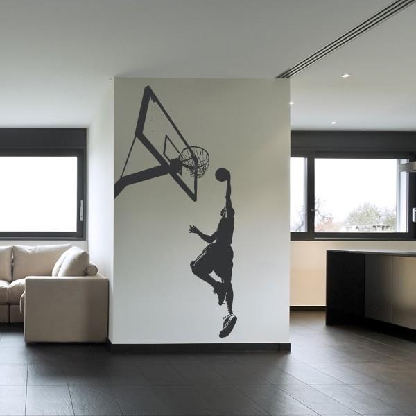 Basketball Slam Dunk Wall Sticker Sport Wall Art With Regard To Basketball Wall Art (Image 4 of 10)