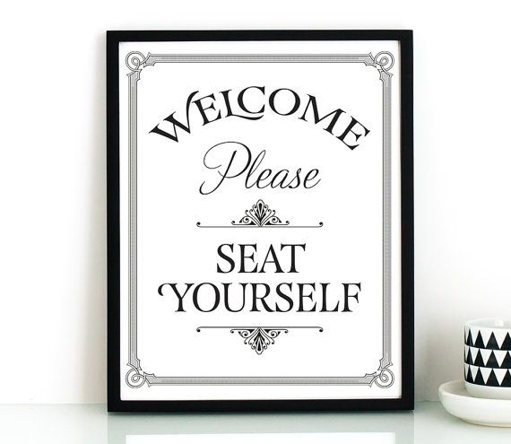 Bathroom Wall Art, Printable Art, Please Seat Yourself Sign Intended For Wall Art For Bathroom (Image 5 of 10)