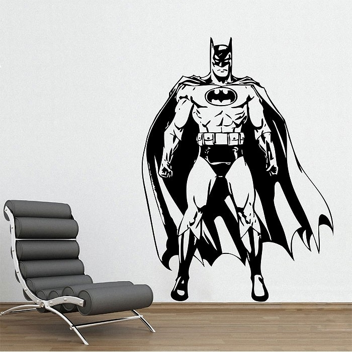 Batman Awesome Vinyl Wall Art Decal With Batman Wall Art (Image 3 of 10)