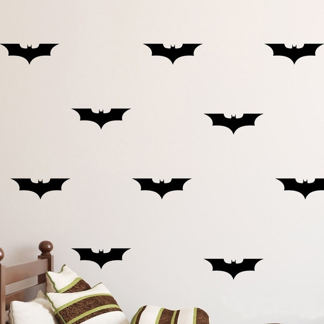 Batman Diy Wall Decal Wall Art Batman Decorations Vinyl Decal Regarding Batman Wall Art (Image 4 of 10)