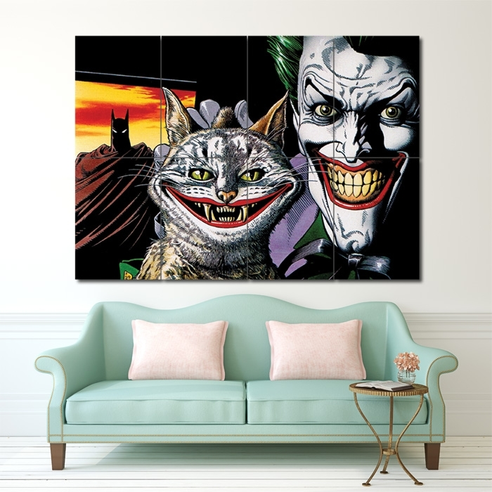 Batman The Joker Bull And Ke Block Giant Wall Art Poster In Joker Wall Art (Image 1 of 10)