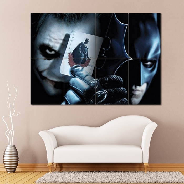 Batman Vs Joker Block Giant Wall Art Poster With Joker Wall Art (Image 2 of 10)