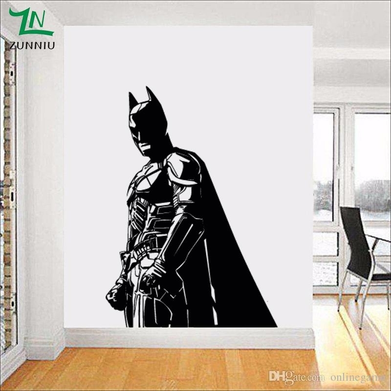 Batman Wall Sticker For Kids Boy Room Vinyl Decal The Dark Knight For Batman Wall Art (Image 8 of 10)