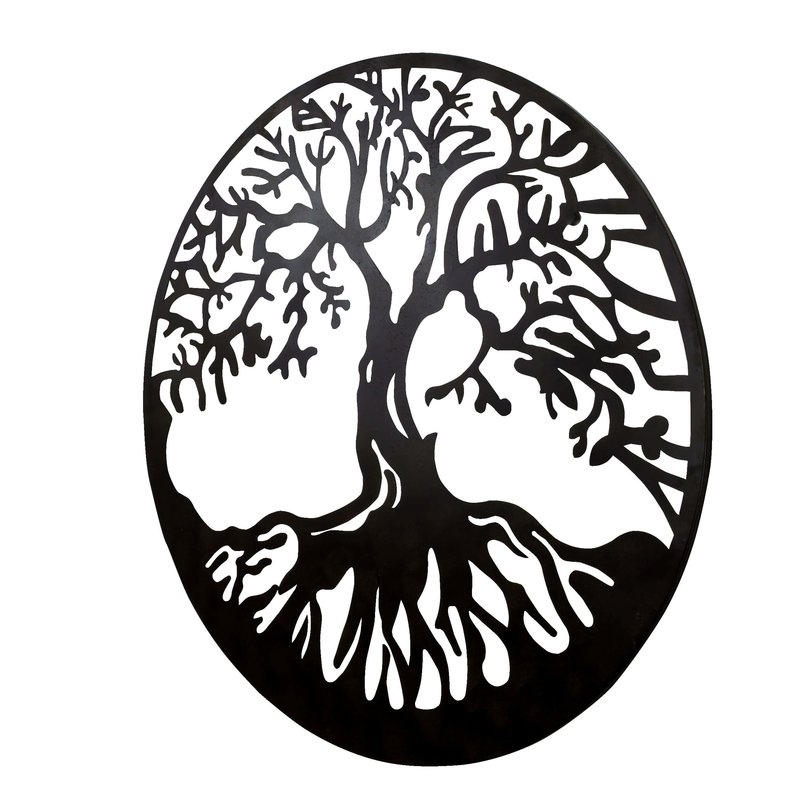 Bayaccents Tree Of Life Metal Wall Décor & Reviews | Wayfair Inside Tree Of Life Metal Wall Art (Image 1 of 10)