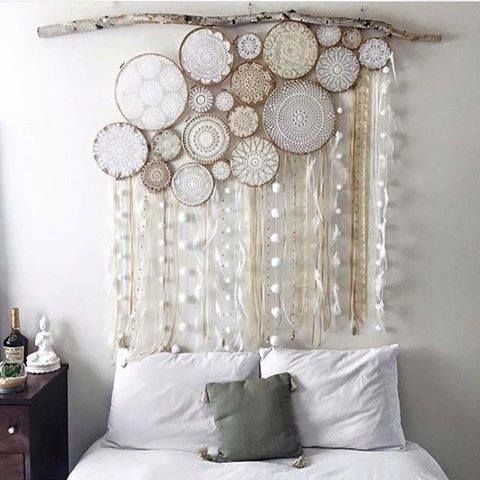 Beautiful!! Crochet Art Framed In Embroidery Hoops | Things I Love With Crochet Wall Art (Image 2 of 10)