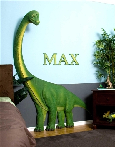 Beetling Brachiosaurus Dinosaur 3D Wall Art Decor Throughout Dinosaur Wall Art (Image 2 of 10)