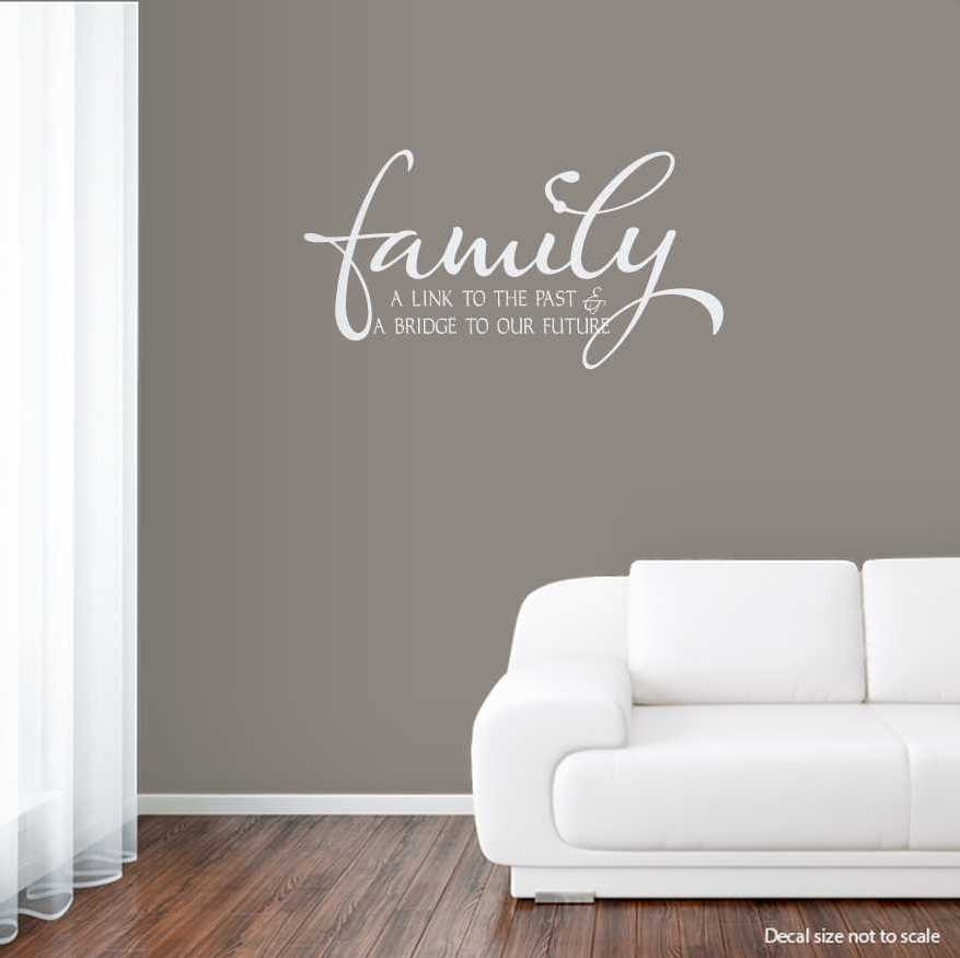 Benefits Of Wall Art Decals – Bellissimainteriors In Family Wall Art (Image 1 of 10)
