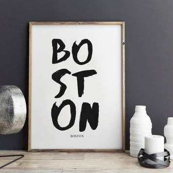 Best Boston Wall Art Products On Wanelo With Regard To Boston Wall Art (Image 1 of 10)