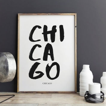 Best Chicago Wall Decor Products On Wanelo Throughout Chicago Wall Art (Image 1 of 10)