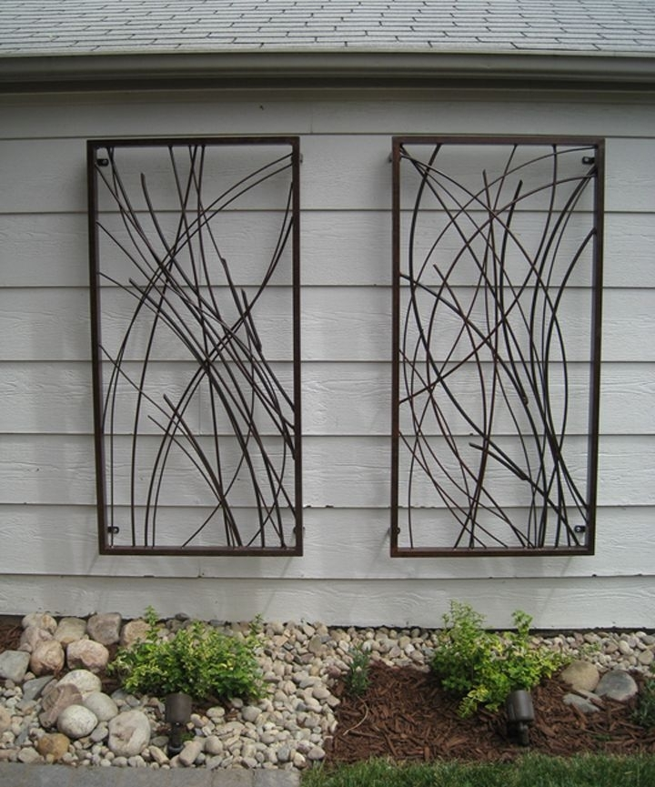 Best Designs For Outdoor Wall Art: Custom Outdoor Wall Art Design Throughout Outdoor Metal Wall Art (Photo 1 of 10)