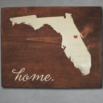 Best Florida State Decor Products On Wanelo Within Florida Wall Art (View 4 of 10)