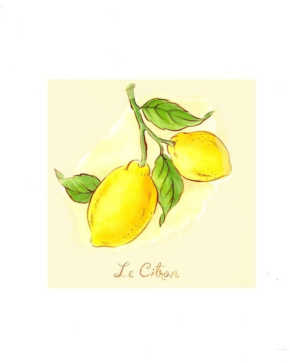 Best Of Lemon Wall Art | About My Blog Pertaining To Lemon Wall Art (Image 2 of 10)