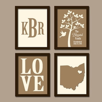 Best Personalized Tree Initials Wall Art Products On Wanelo In Personalized Wall Art (Image 2 of 10)