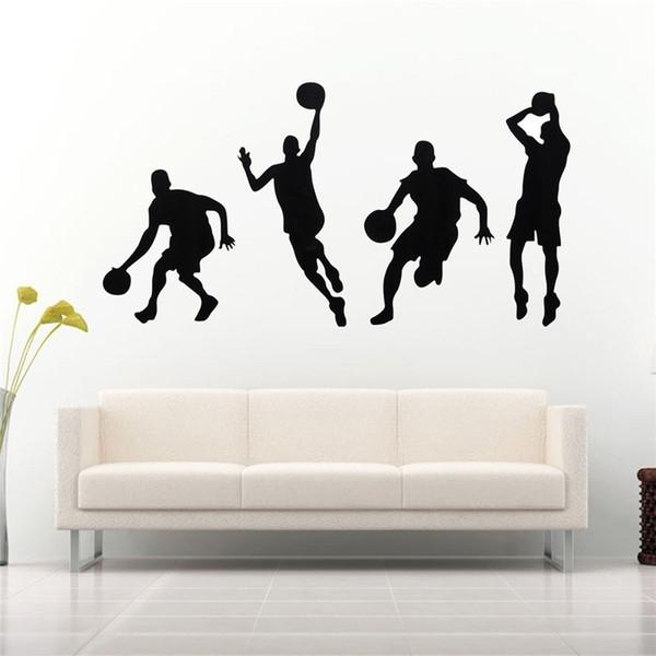 Best Promotion Diy Basketball Wall Art Basketball Players Kids Room With Basketball Wall Art (Image 5 of 10)