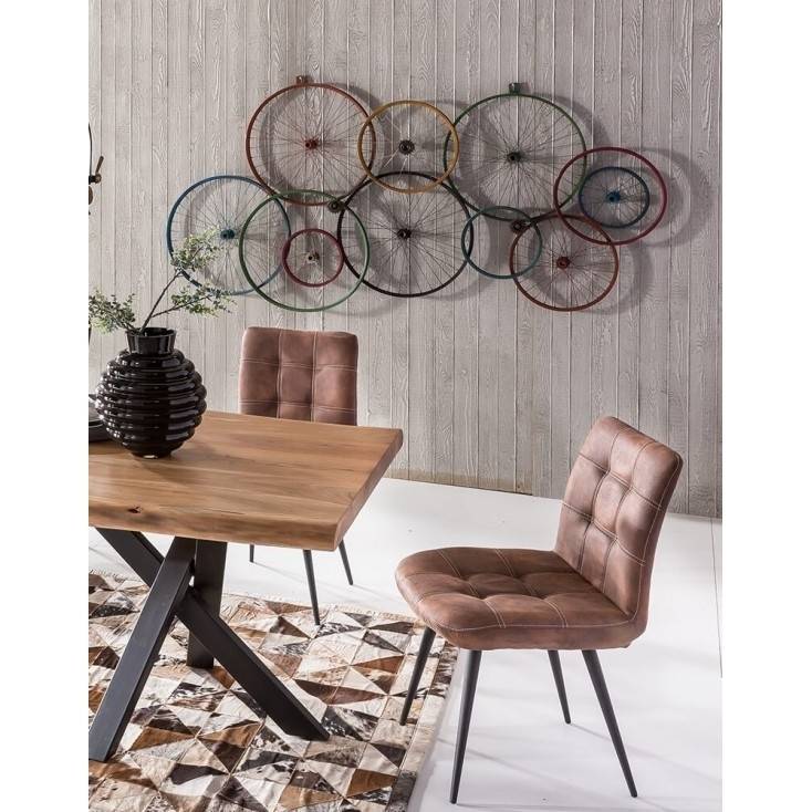 Bicycle Wall Art | Wheels Recycled On Walls Urban Reclaimed Metal Within Bicycle Wall Art (View 6 of 10)