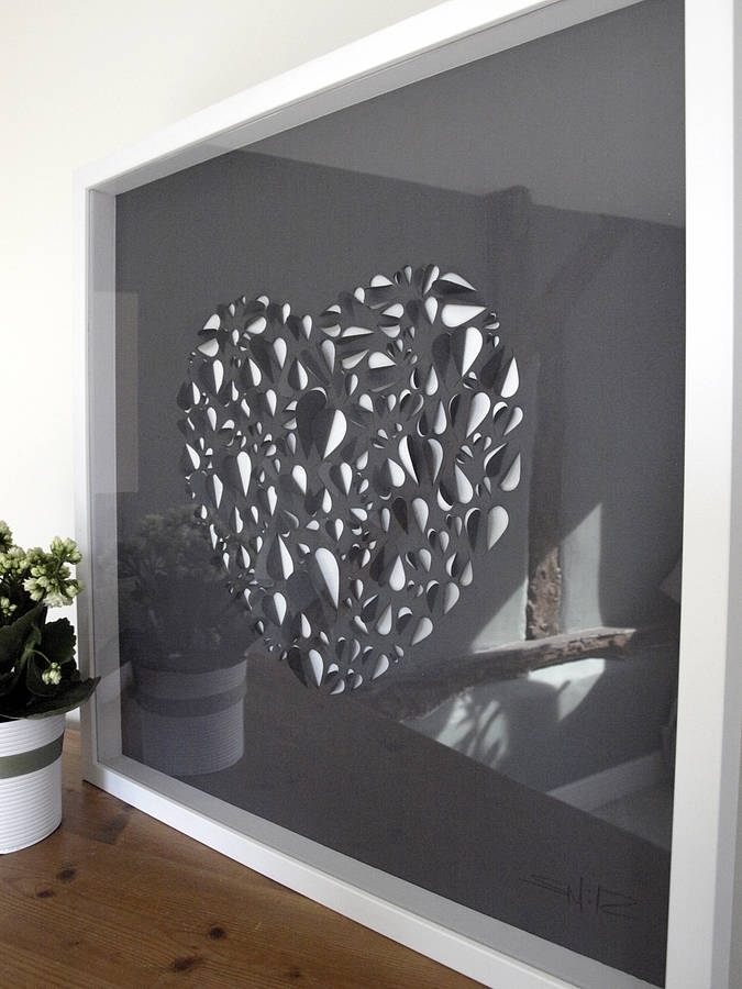 Big Love Hand Stunning Grey Wall Art – Wall Decoration And Wall Art With Regard To Grey Wall Art (View 9 of 10)