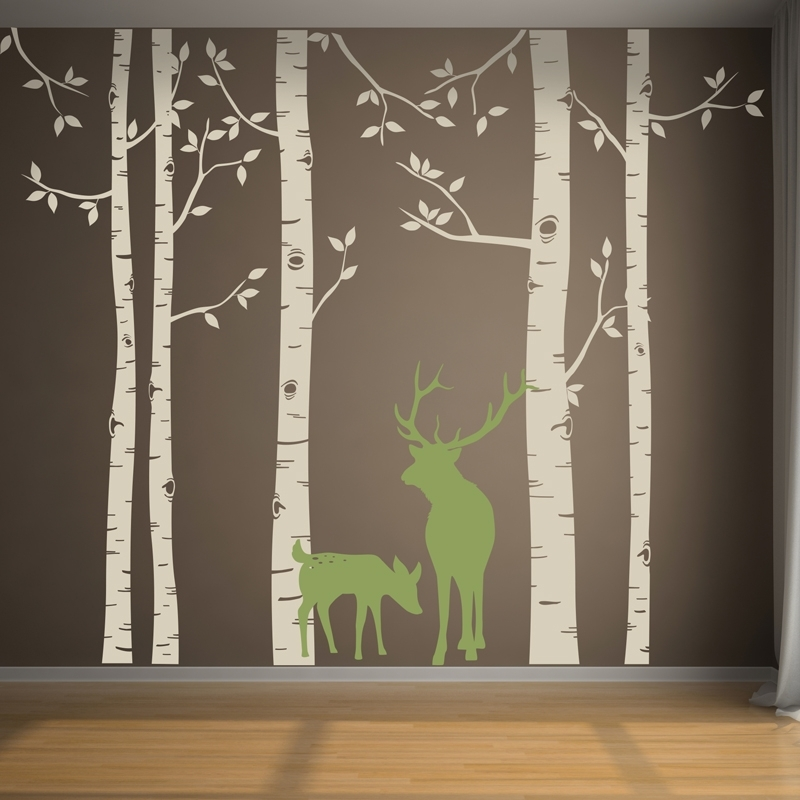 Birch Tree Wall Art Decals : Andrews Living Arts – Look Fresh And With Birch Tree Wall Art (Image 2 of 10)