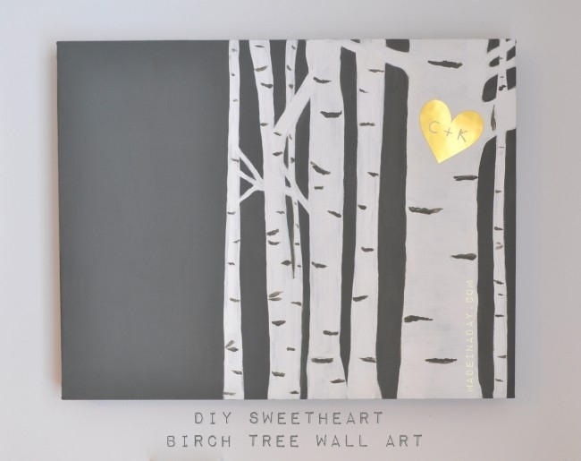 Birch Tree Wall Art For Birch Tree Wall Art (Image 3 of 10)