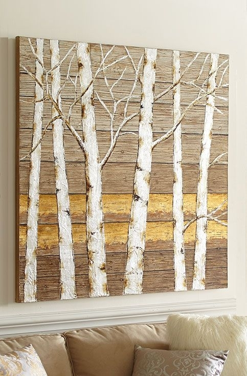 Birch Tree Wall Art From Pier 1 Imports | Wallpaper And Murals In Birch Tree Wall Art (Image 4 of 10)