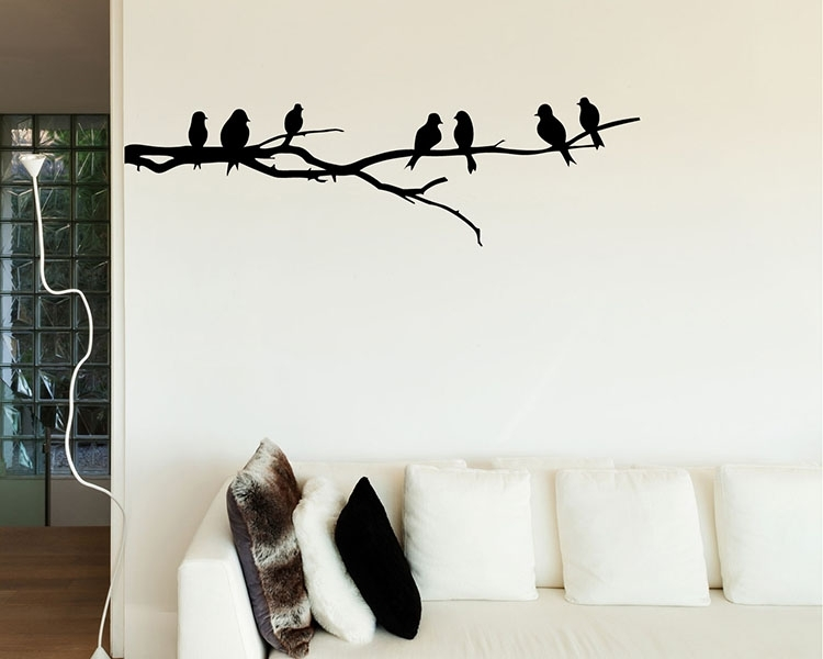 Bird Wall Decals – Vinyl Wall Art Stickers Regarding Bird Wall Art (Image 2 of 10)