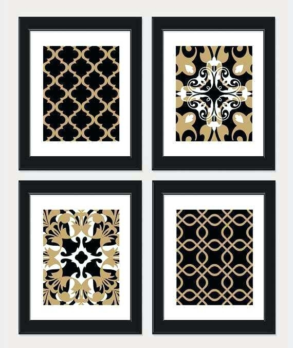 Black And Gold Wall Art Black And White Wall Decor Best Of Items With Black And Gold Wall Art (Image 4 of 10)