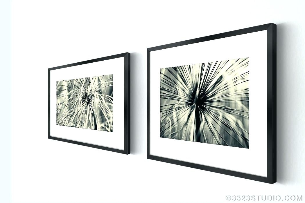 Black And White Abstract Wall Art Abstract Wall Art Flower Power For Set Of 2 Framed Wall Art (Image 1 of 10)