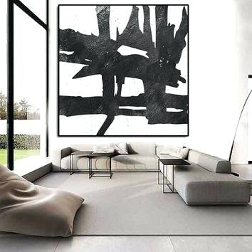 Black And White Abstract Wall Art Black And White Abstract Wall Art Inside Black And White Large Canvas Wall Art (Image 1 of 10)