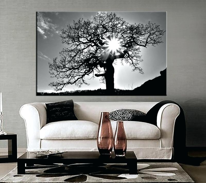 Black And White Canvas Wall Art 1 Piece Canvas Photography Living Pertaining To Black And White Large Canvas Wall Art (Image 2 of 10)